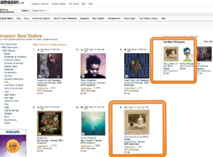 #1 in Amazon's 'Hottest New Folk Releases' / #6 in Amazon's 'Folk Download Chart'