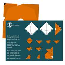Pack of 5 Fox Findings origami sheets