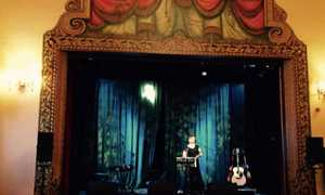 Sound check at Settle Victoria Hall 'O Hooley & Tidow' Gig